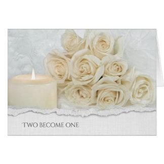 Cartão buquê cor-de-rosa wedding com borda de papel