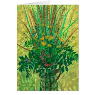 Cartão Buquê da baía finlandesa, arte floral moderna