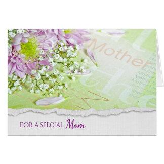 Cartão buquê da margarida para o aniversário da mãe