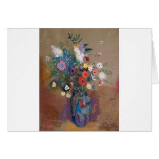 Cartão Buquê das flores - Odilon Redon