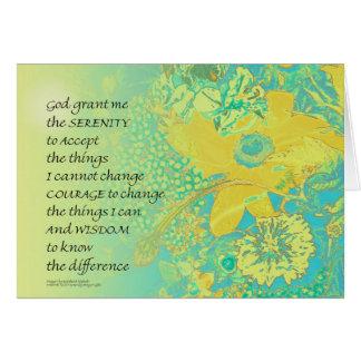 Cartão Buquê de turquesa do amarelo da oração da