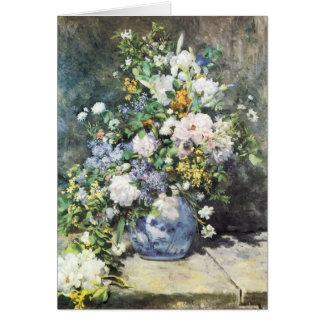 Cartão Buquê do primavera por Pierre Renoir, flores do