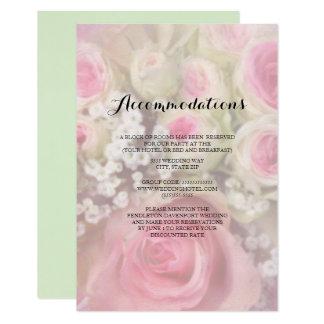 Cartão Buquê dos rosas cor-de-rosa que Wedding