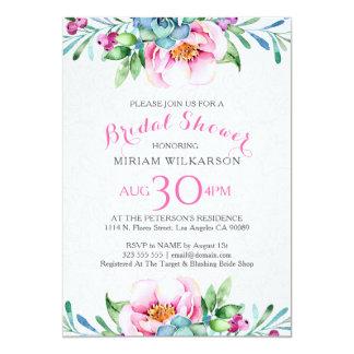 Cartão Buquê floral colorido das aguarelas