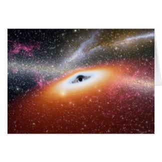 Cartão Buraco negro maciço de NASAs