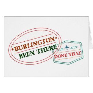 Cartão Burlington feito lá isso