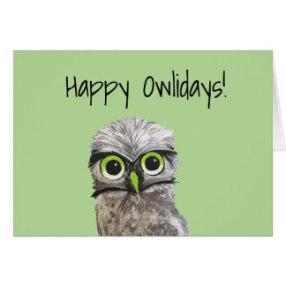 Cartão Burrowing feriados da coruja