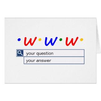 Cartão Busca customizável da Web - pergunta e resposta