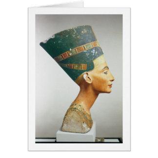 Cartão Busto da rainha Nefertiti, vista lateral, do studi