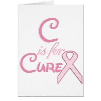 Cartão C é para a cura