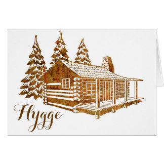 Cartão Cabana rústica de madeira Cosy - Hygge ou seu