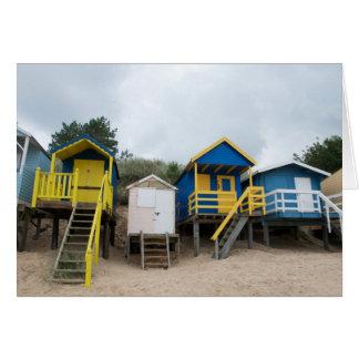 Cartão Cabanas da praia