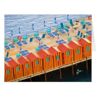 Cartão Cabanas do chique elegante de Sorrento