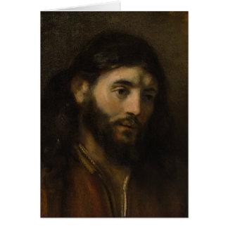 Cartão Cabeça de Rembrandt de retratos do cristo CC0924