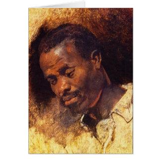Cartão Cabeça de um negro por Rubens