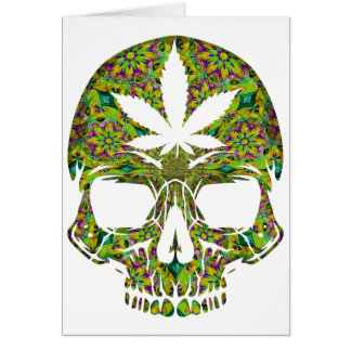 Cartão Cabeça do esqueleto do crânio da erva daninha