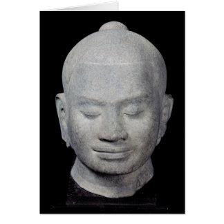 Cartão Cabeça do estilo do rei Jayavarman VII Bayon