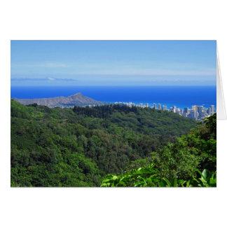 Cartão Cabeça e Waikiki do diamante