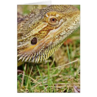 Cartão Cabeça farpada do dragão