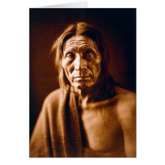 Cartão Cabeça grande (nativo americano)