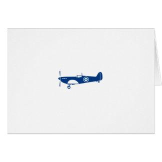 Cartão Cabeça-quente do avião de combate da guerra