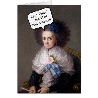 Cartão Cabeleireiro engraçado