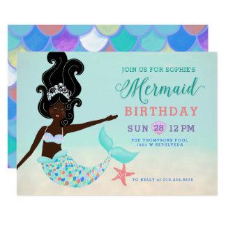 Cartão Cabelo preto com festa de aniversário preta da