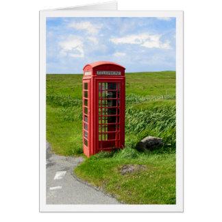 Cartão Cabine de telefone