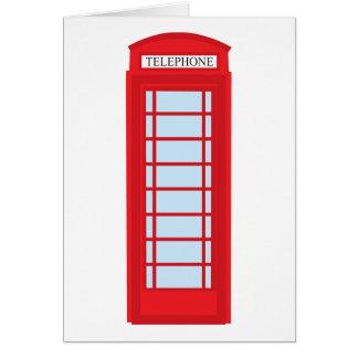 Cartão Cabine de telefone de Londres