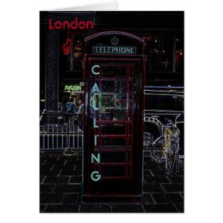 Cartão Cabine de telefone Notecard de Londres