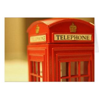 Cartão Cabine de telefone vermelha