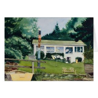 Cartão Cabine do verão - Suquamish Washington