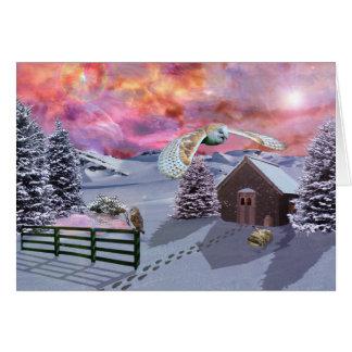 Cartão Cabine na neve