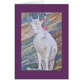 Cartão cabra e imp