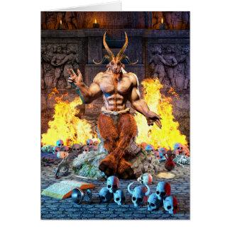 Cartão Cabra sabática Baphomet satânico