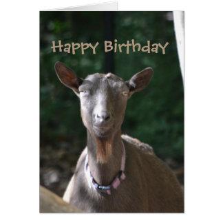 Cartão Cabra velha considerável do feliz aniversario