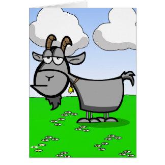 Cartão Cabra velha engraçada