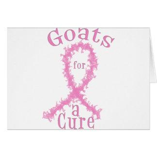 Cartão Cabras para um cancro da mama da cura