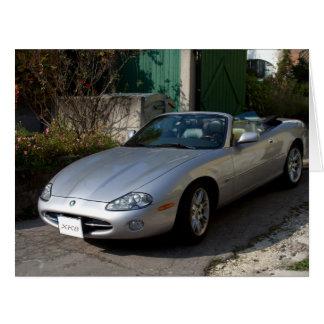 Cartão Cabriolet de prata de Jaguar XK8