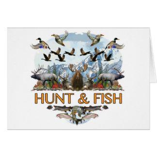 Cartão Caça e peixes