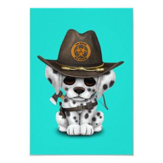 Cartão Caçador Dalmatian bonito do zombi do filhote de
