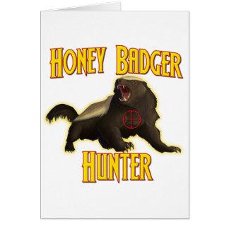 Cartão Caçador do texugo de mel