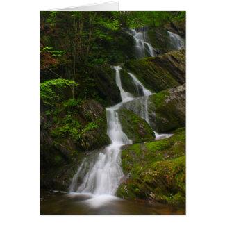 Cartão Cachoeira gêmea de Berkshires da cascata