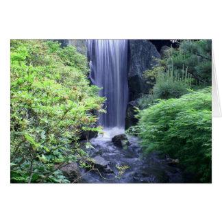Cartão Cachoeira no jardim botânico de Missouri