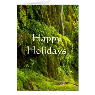 Cartão Cachoeira no verde boas festas