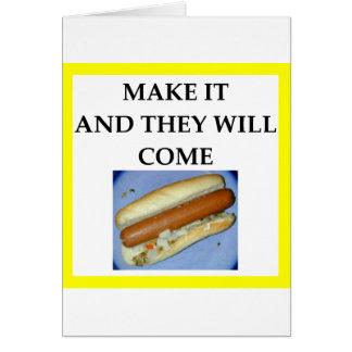 Cartão cachorro quente