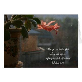 Cartão Cacto da acção de graças com a flor colorida