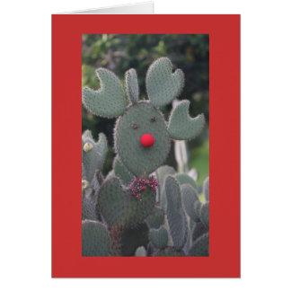 Cartão Cacto de Rudolph