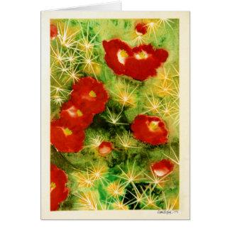 Cartão Cacto na flor