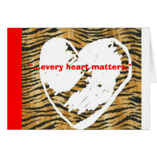 Cartão Cada coração importa